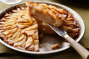 Spiced apple cake.