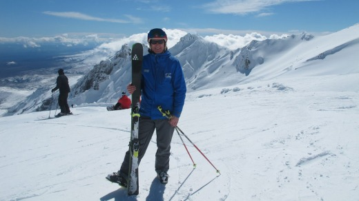 New Zealand ski instructor Lyall Crump on the slopes at Whakapapa.