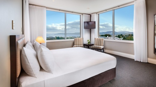 Recently renovated: The Hilton, Lake Taupo.