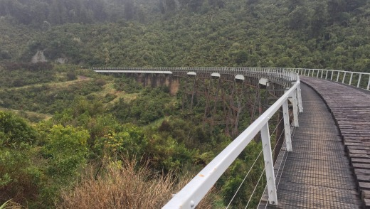 The Hapuawhenua Viaduct on the Old Coach Road between Horopito and Ohakune, New Zealand.