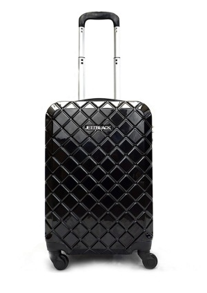 Check Black Suitcase by Jett Black.