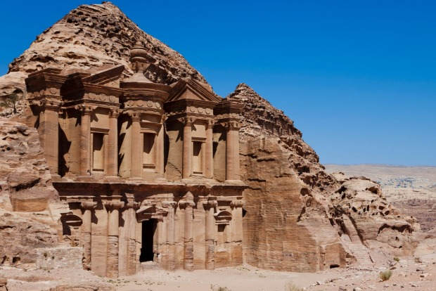 The Monastery, known locally as Ad Deir, located in the UNESCO World Heritage Site of Petra, or Rose-Red city, which was ...