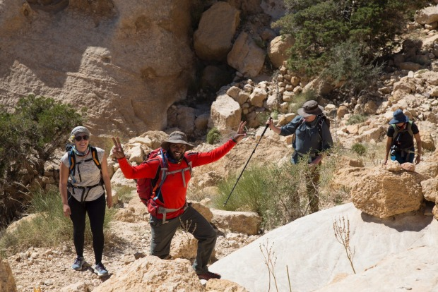 Trekking in Jordan 'is not like the Himalayas'.