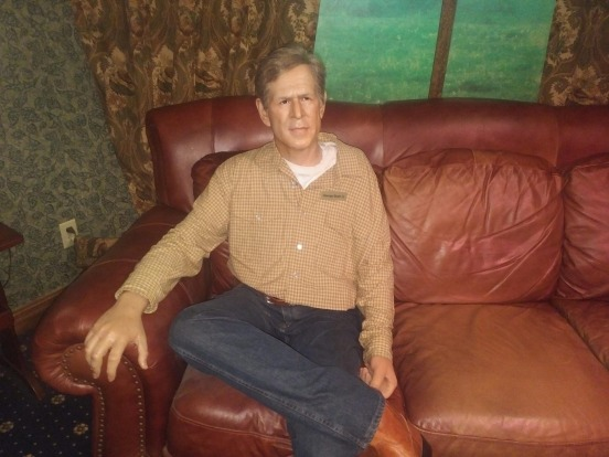 George W Bush playing your creepy uncle.