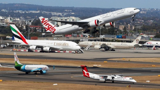 Flights between Sydney and Melbourne have plummeted 97 per cent due to COVID-19 travel restrictions.
