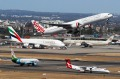 Planes at Sydney Airport. There are now 54,519 flights between Sydney and Melbourne's airports annually.