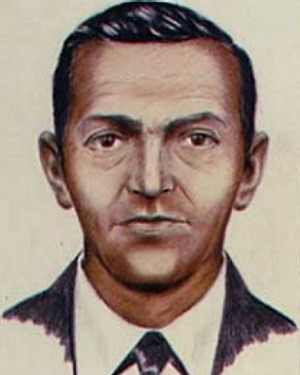 The FBI sketch of the mysterious D.B. Cooper.