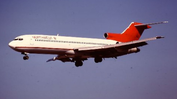 Cooper leapt from a Northwest Boeing 727 similar to this.