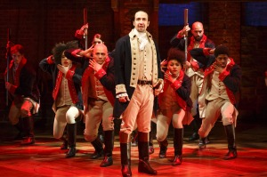 Lin-Manuel Miranda's smash hit musical, <i>Hamilton</I>, in New York.