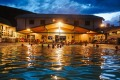 A winter's night dip at Chico Hot Springs pool.