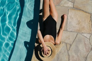 Poolside lounging.