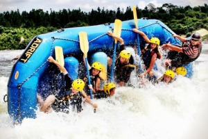 Vertical adventure: White water rafting with Adrift on the river Nile in Uganda.