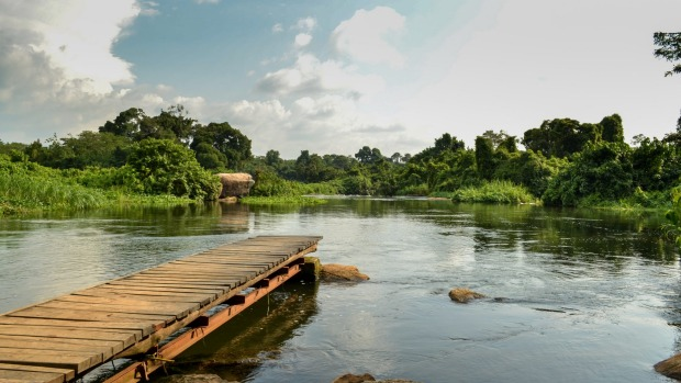 Wildwaters Lodge is set on an island in the Nile.
