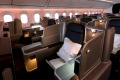 The Qantas 787 Dreamliner business class cabin. You're much more likely to get an upgrade if you have high status with ...