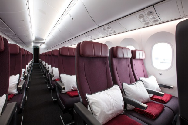 There are 166 economy class seats on board.