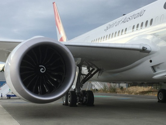 The Qantas Dreamliner features the most efficient engines in the sky.
