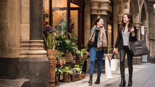 Melbourne is known for it's shopping culture: Flinders Lane.