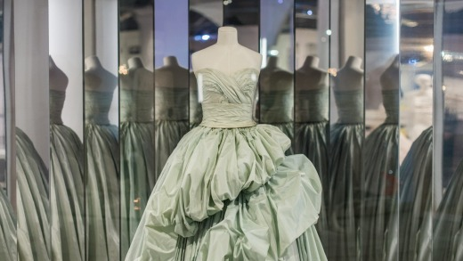 Installation of The House of Dior: Seventy Years of Haute Couture at NGV.