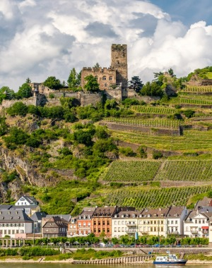 Gutenfels Castle and vineyards near Kaub enthralled 19th-century Romantics who revitalised the area with poems, ...