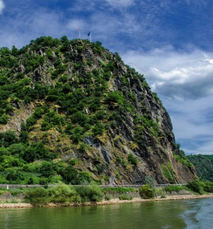 The famous rock Lorelei in the Rhine valley