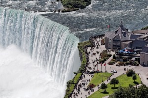 The Horseshoe Falls at Niagara Falls, Ontario.