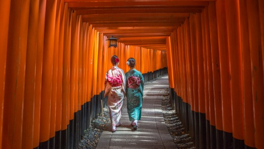 Quintessential Kyoto: The Fushimi-Inari Taisha Shrine.