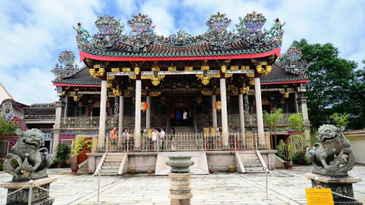 The famous Khoo Kongsi which is located in George Town, Penang.