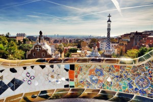 Park Guell, Barcelona. Tourism is booming and there has been a backlash from locals.