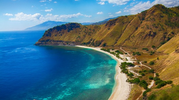 Not your traditional white sand coastline: The  East Timor.