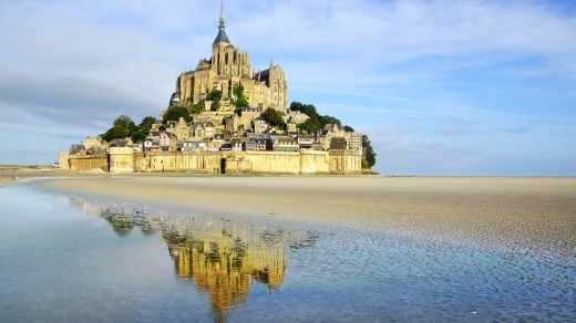 Mont Saint Michel abbey. Normandy, France.