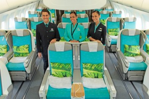 Business class on Air Tahiti Nui.