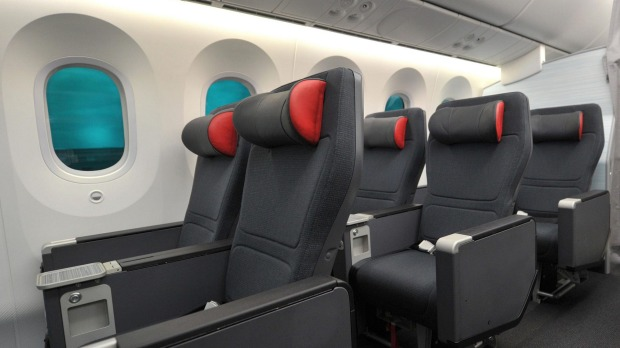 Premium economy seats provide enough comfort to snatch a few hours sleep.