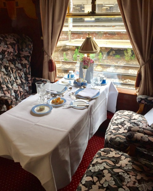 Lucille, a 1920s first class parlour car that was built for the Queen of Scots Pullman, a luxury train that ran tours ...