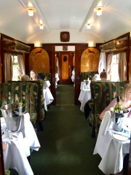 One of the 11 carriages tha make up the Belmond British Pullman.