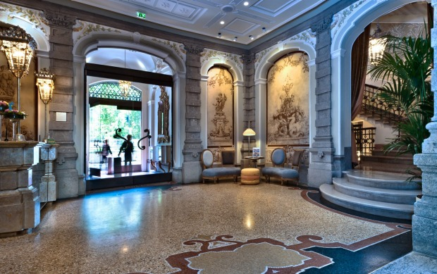 Chateau Monfort Milan: This Relais & Chateaux hotel occupies a pink 1903 mansion with art nouveau elements, but the ...