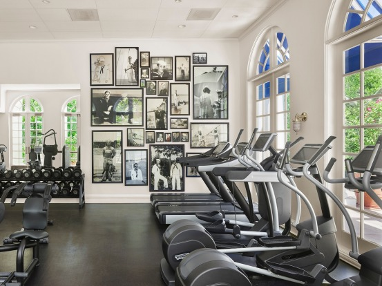 'Boiler room' gym at PSYC, Parker Palm Springs
