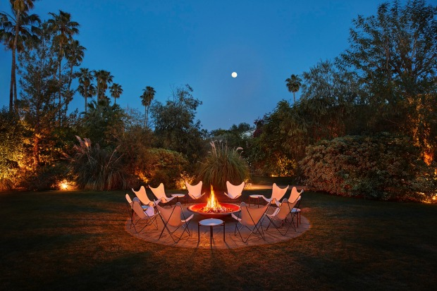 Outdoor firepit, Parker Palm Springs