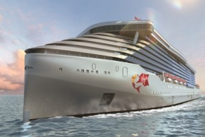 Rendering of the front of the ship.