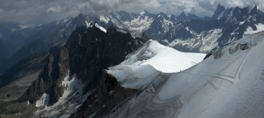 WINNER: Ice trails. Trekkers climb to the summit of Mont Blanc, the highest peak in Europe. Click to see the rest of the ...
