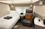 Singapore Airlines' first class suite for its A380 superjumbos. The suites feature a fully flat bed and a separate ...