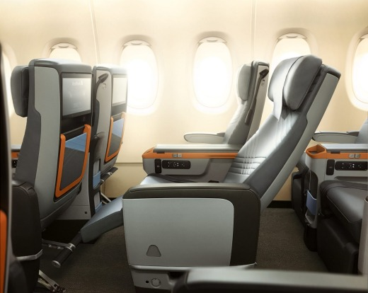 Premium economy offers a 19.5 inch-wide seat, with a seat pitch of 38 inches – the same as the existing seats. ...