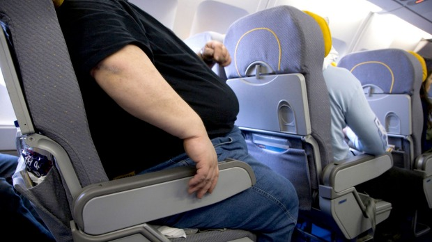 US plane passenger charges obese man $212 for taking up part