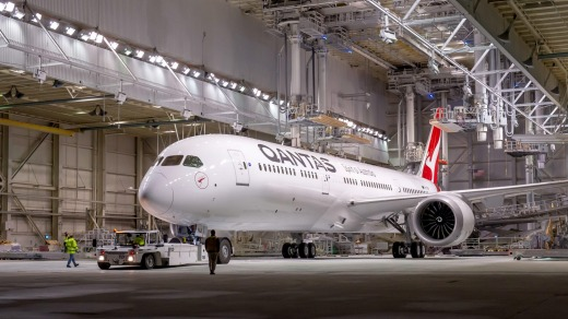 Qantas operated its first flight powered by a meaningful amount of biofuel last year, using a 787-9 (pictured) and is ...