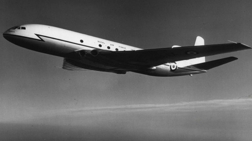 The world's first commercial jet airliner, the De Havilland Comet.