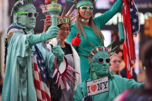 Beware costumed people in Times Square.