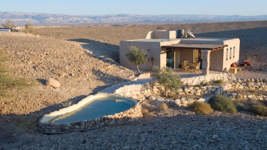 A cabin at Midbara. The simplicity fits just right, not taking anything away from the views of the majestic desert.