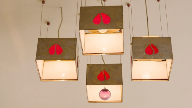 Lightshades in the Dining Room.