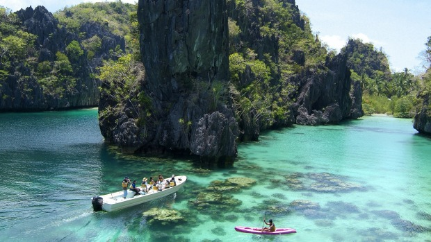 Lagen Island markets itself as an eco-sanctuary in El Nido, a cluster of 45 small islets dotted around a private marine ...