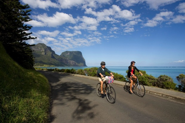 On Lord Howe, riding a rental bike ($55 a week from Wilson's Hire) is THE way to get around on the island's quiet roads.
