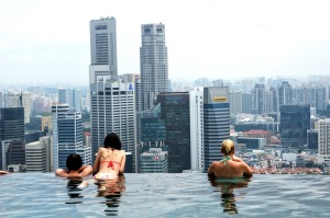 Marina Bay Sands rooftop pool, Singapore